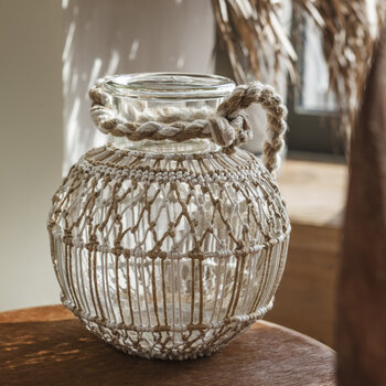 Macramé Hurricane - White & Natural - Round