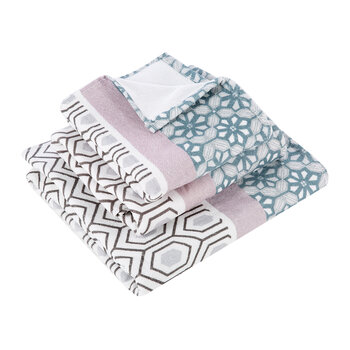 Mash Up Geo Towel - Pale Blue