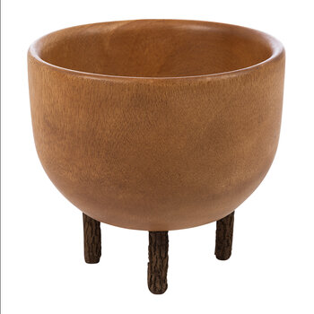Wooden Bowl with Legs