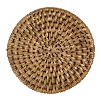 Rattan Coaster - Set of 6 - Natural