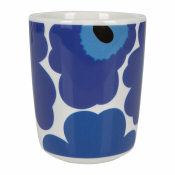 Oiva/Unikko Mug - Small - White/Blue