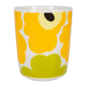 Oiva/Unikko Mug - Small - White/Lime