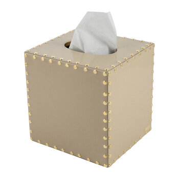 Aero Tissue Box - Toast/Gold