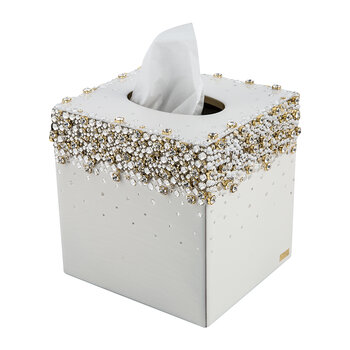 Duchess Tissue Box - Pearl/Gold