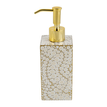 Proseco Soap Dispenser - Oatmeal/Gold