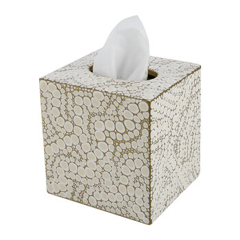 Proseco Tissue Box - Oatmeal/Gold
