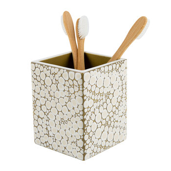 Proseco Toothbrush Holder - Oatmeal/Gold