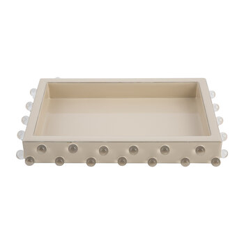 Roxy Rectangular Tray - Ecru/Gold