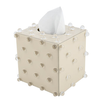Roxy Tissue Box - Ecru/Gold