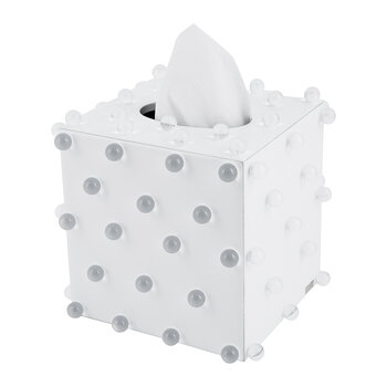 Roxy Tissue Box - White/Silver