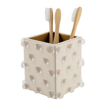 Roxy Toothbrush Holder - Ecru/Gold