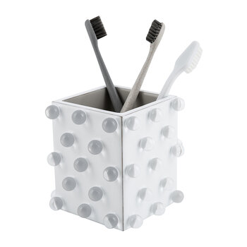 Roxy Toothbrush Holder - White/Silver