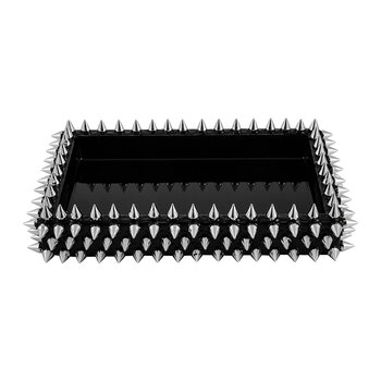 Spikes Tray - Silver/Black