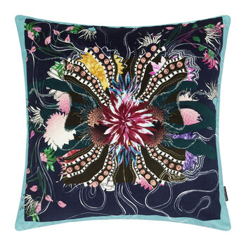 Ocean Blooms Cushion - Stream