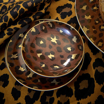 Leopard Dessert Plates - Set of 4