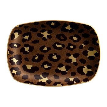 Leopard Rectangular Tray