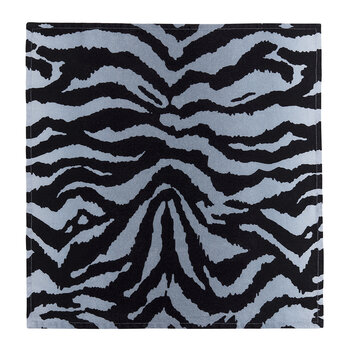 Tiger Sateen Napkins - Set of 4 - Blue