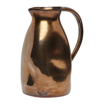 Ceramic Dented Pitcher - Platinum