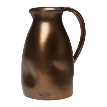 Ceramic Dented Pitcher - Platinum Matt