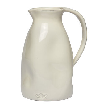 Ceramic Dented Pitcher - White