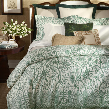 Charleston Quilt Cover - Preslie Green