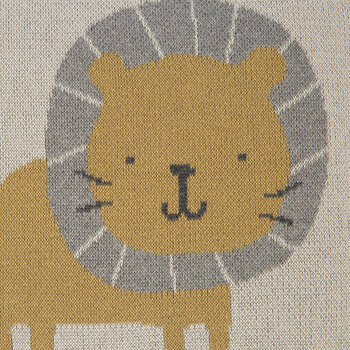 Animal Knitted Cushion - 40x40cm - Lion