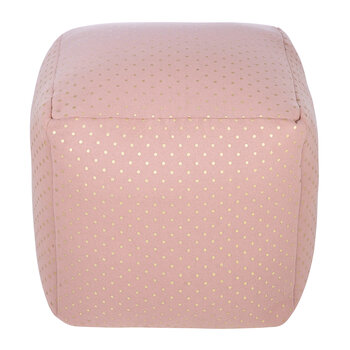Pouf cube - Pois Roses