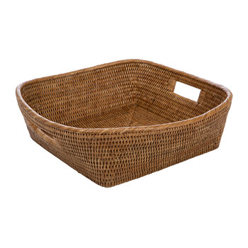 Rattan Square Basket - Natural