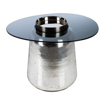 Silver Floating Glass Top Table