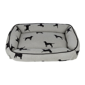 Pet Bed - Medium - Stripe Dog & Paws