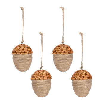 Acorn Tree Decoration - Set of 4
