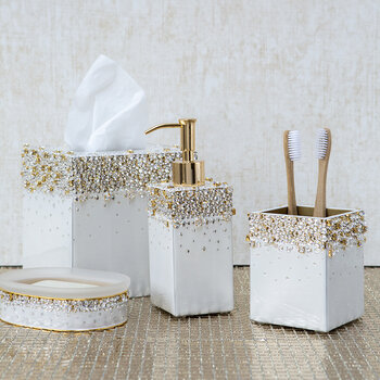 Duchess Toothbrush Holder - Pearl/Gold