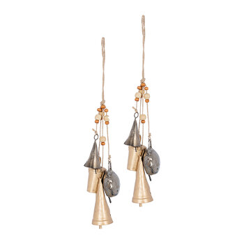 Rustic Bell Tree Decoration - Set of 2