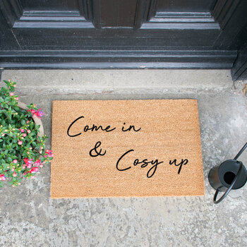 Paillasson « Come In & Cosy Up » - Noir