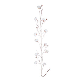 Artificial Cotton Branch - Natural