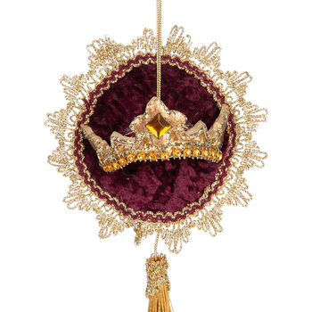 Crown Embroidered Pillow Tree Decoration - Set of 3