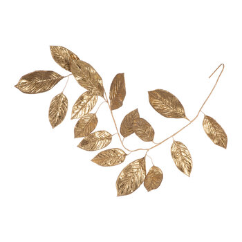 Magnolia Leaf Garland - Antique Gold