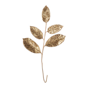 Magnolia Leaf Spray - Antique Gold