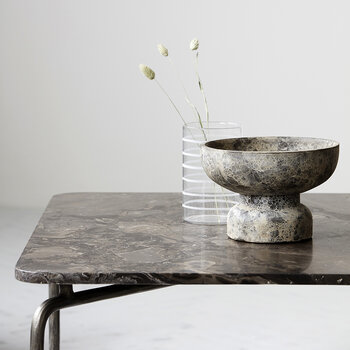Ancient Candle Stand - Gray/Brown