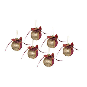 Pansy Bauble - Set of 6 - Small