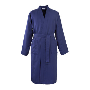 Pique Bathrobe - Navy