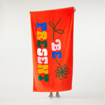 Beach, Please! Giant Beach Towel - Be Present