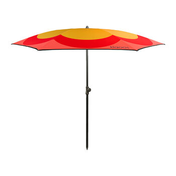 The Pop Grass Beach Umbrella - Mustard/Red