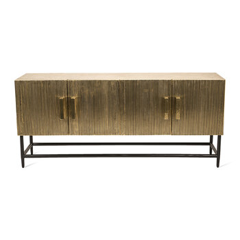 Ribbel Low Cabinet - Gold