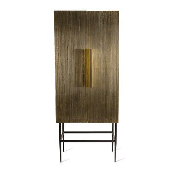Ribbel Tall Cabinet - Gold