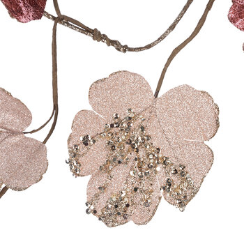 Artificial Sequin Leaf Garland