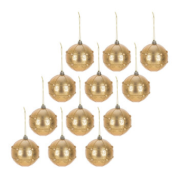 Pearl Decorative Baubles - Set of 12 - Light Gold