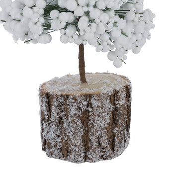 Frosted Berry Tree - White