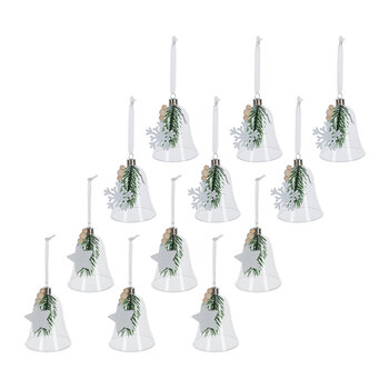 Rustic Bell Tree Decoration - Set of 12