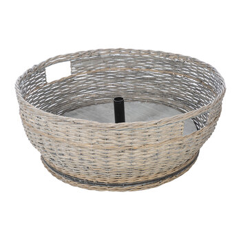 Willow Woven Tree Basket - Grey